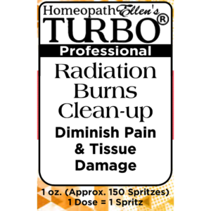 Turbo Radiation Burn Cleanup Professional Homeopathic Spritz